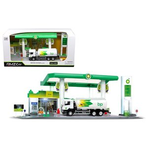 トミカ や HotWheels のジオラマディスプレイにどうぞ 1/64 ジオラマセット BPのガソ...