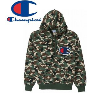 champion チャンピオン パーカー メンズ プルオーバースウェットパーカー カモフラ ビックマーク アクションスタイル C3-G123|houchikuya