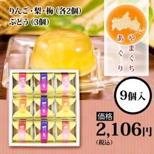 やまぐちあぐり 9個入り(ぶどう(3個)、りんご・梨・梅(各2個))|houeidou