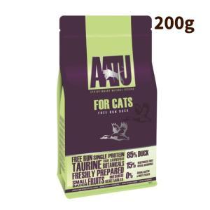 AATU アートゥー|キャット ダック 200g ドライフード キャットフード 猫用 成猫 グレイン...