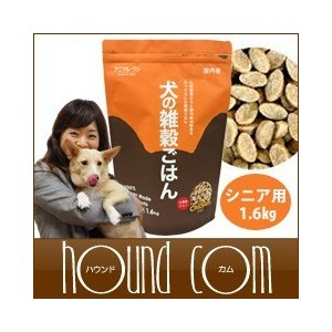 ドッグフード 犬の雑穀ごはん ライト&シニア用1.6kg アニマルワン 国産プレミアムドッグフード 犬のエサ