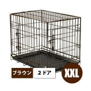 犬 ゲージ|ドッグサークル|犬 サークル|犬用品 犬グッズ ペットグッズ|<2ドアタイプ>折り畳みで...