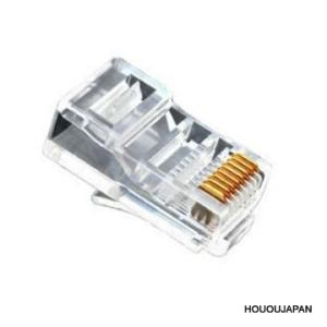 LANケーブルコネクタ RJ45 8極8芯 カテコリ6対応100個セット|hououjapan2007