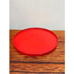 漆器お皿朱塗り盆赤色丸皿川連漆器おもてなし皿トレー盆お刺身和菓子お家時間を豊かに6.5寸約20cm hourin-shop