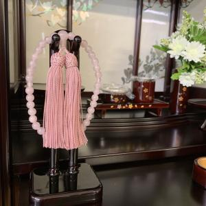 紅水晶数珠 念珠 ピンク色 片手 共仕立て 女性用 全宗派対応 hourin-shop