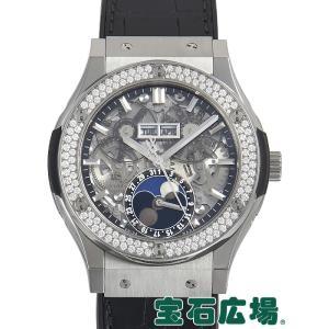 ウブロ HUBLOT クラシックフュージョン アエロフュージョン ムーンフェイズ チタニウム 517.NX.0170.LR.1104 中古  メンズ 腕時計 houseki-h