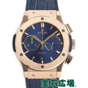 ウブロ HUBLOT クラシックフュージョン ブルー クロノグラフ キングゴールド 521.OX.7180.LR 中古  メンズ 腕時計|houseki-h