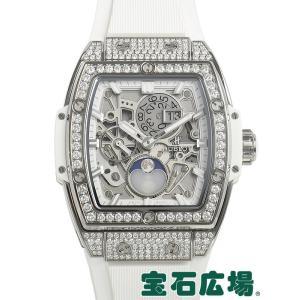 ウブロ HUBLOT スピリット オブ ビッグバン ムーンフェイズ チタニウム ダイヤモンド 647.NE.2070.RW.1604 中古  メンズ 腕時計 houseki-h