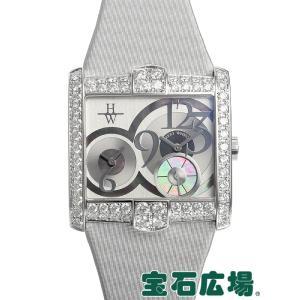 ハリー ウィンストン HARRY WINSTON アヴェニュー スクエアード AVSQTZ38WW007 中古 未使用品 レディース 腕時計|houseki-h