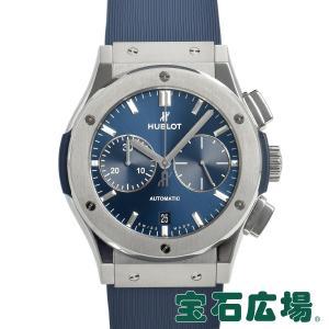 ウブロ HUBLOT クラシックフュージョン ブル− クロノグラフ チタニウム 521.NE.7170.VR.LGO17 中古 メンズ 腕時計|houseki-h