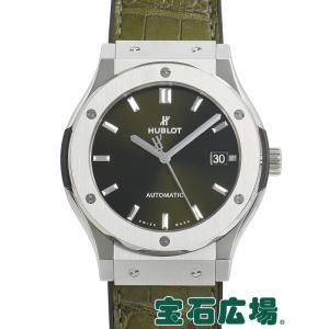 ウブロ HUBLOT クラシックフュージョン グリーンチタニウム 511.NX.8970.LR 中古 メンズ 腕時計|houseki-h