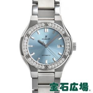 ウブロ HUBLOT クラシックフュージョン チタニウム ライトブルー ブレスレット 585.NX.891L.NX.1204 中古 レディース 腕時計|houseki-h