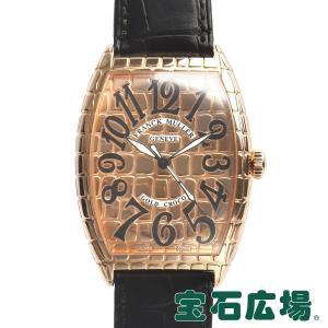 フランクミュラー FRANCK MULLER トノウカーベックス ゴールド クロコ 6850SC GOLD CRO 中古 メンズ 腕時計|houseki-h