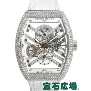 フランクミュラー FRANCK MULLER ヴァンガード 7デイズ パワーリザーブ スケルトン V45S6SQTDMVTDOGBC 新品 メンズ 腕時計|houseki-h