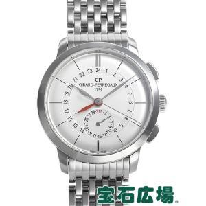 ジラール・ペルゴ 1966 デュアルタイム 49544-11-132-11A 新品 メンズ 腕時計