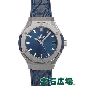 ウブロ クラシックフュージョン ブルー チタニウム 581.NX.7170.LR 新品 レディース 腕時計|houseki-h