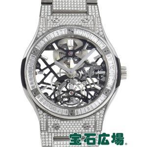 ウブロ HUBLOT クラシックフュージョン トゥールビヨンチタニウムダイヤモンド 505.NX.0170.NX.3904 新品  メンズ 腕時計 houseki-h