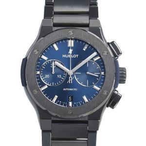 ウブロ HUBLOT クラシック フュージョン クロノグラフ ブルー ブレスレット 520.CM.7170.CM 新品  メンズ 腕時計|houseki-h