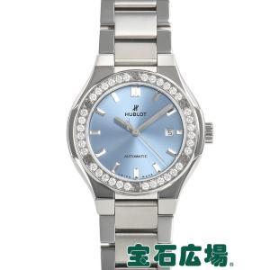 ウブロ HUBLOT クラシックフュージョン チタニウム ライトブルー ブレスレット 585.NX.891L.NX.1204 新品  レディース 腕時計|houseki-h