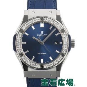 ウブロ HUBLOT クラシックフュージョン チタニウム ブルー ダイヤモンド 542.NX.7170.LR.1104 新品 メンズ 腕時計|houseki-h