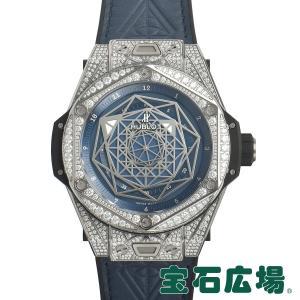 ウブロ HUBLOT ビッグバン ウニコ サンブルーチタニウムブルーパヴェ 415.NX.7179.VR.1704.MXM18 新品 メンズ 腕時計|houseki-h