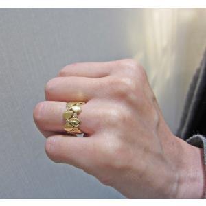 イエローゴールド ダイヤモンド入り デザイン リング|houseki-shibata|04