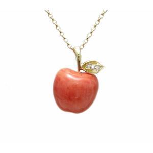 イエローゴールド モモサンゴ りんご ペンダント|houseki-shibata|04