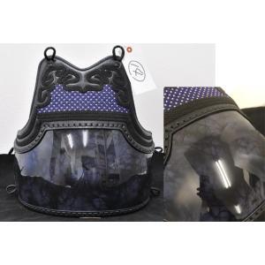 現品限り、早いもの勝ちの商品になります。  胸:三階松亀甲 紫×白 2本足仕立 胴台:50本型銀雲塗...