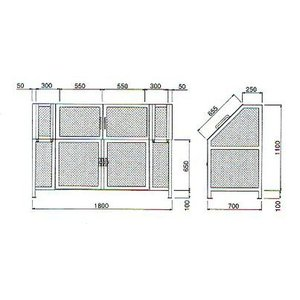 ゴミステーション ジャンボメッシュ ST−1100|housingplaza|02