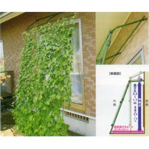 第一ビニール  緑のカーテン アーチde立掛けワイド1800  幅180cm×高さ1.7〜3.2m housingplaza 04