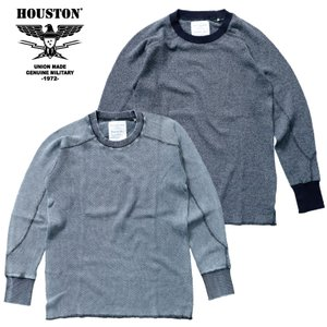 HOUSTON / ヒューストン 21838 HEATHER INDIGO THERMAL TEE / ヘザーインディゴ サーマル Tシャツ -全2色-|houston-1972