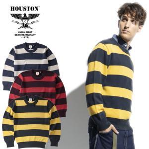 HOUSTON / ヒューストン 21856  PIGMENT BORDER SWEATER / ピグメントボーダーセーター -全3色- / コットン|houston-1972