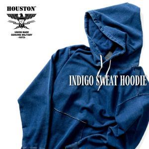 HOUSTON / ヒューストン 21913 INDIGO SWEAT HOODIE / インディゴスウェットパーカー -全2色-|houston-1972