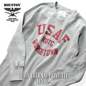 HOUSTON / ヒューストン 21916 HEAVY THERMAL PRINT TEE(USAF) / ヘビーサーマルクルーネックロングスリーブプリントTシャツ(エアフォース) -全4色-|houston-1972