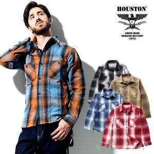 HOUSTON / ヒューストン 40763  OMBRE CHECK VIYELLA SHIRT / オンブレチェックビエラシャツ -全5色-ネルシャツ|houston-1972