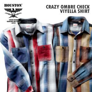 HOUSTON / ヒューストン 40763CZ  CRAZY OMBRE CHECK VIYELLA SHIRT / クレイジーオンブレチェックビエラシャツ -全2色-|houston-1972