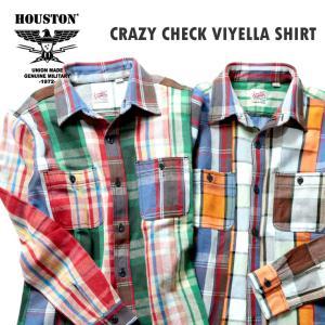 HOUSTON / ヒューストン 40764CZ  CRAZY CHECK VIYELLA SHIRT / クレイジーチェックビエラシャツ -全2色-|houston-1972