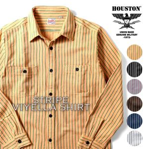 HOUSTON / ヒューストン 40765  STRIPE VIYELLA SHIRT / ストライプビエラシャツ -全6色-ネルシャツ|houston-1972