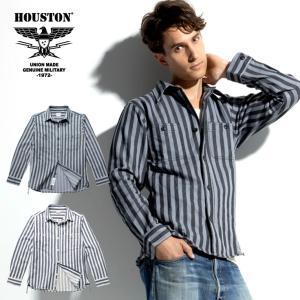 HOUSTON / ヒューストン 40768  WIDE STRIPE VIYELLA SHIRT / ワイドストライプビエラシャツ -全2色- ネルシャツ|houston-1972