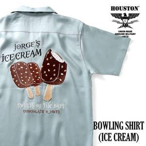 HOUSTON / ヒューストン  40826 BOWLING SHIRT(ICE CREAM)/ボウリングシャツ(アイスクリーム)-全3色- houston-1972
