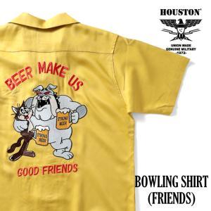HOUSTON / ヒューストン  40830 BOWLING SHIRT(FRIENDS)/ボウリングシャツ(フレンズ)-全3色- houston-1972