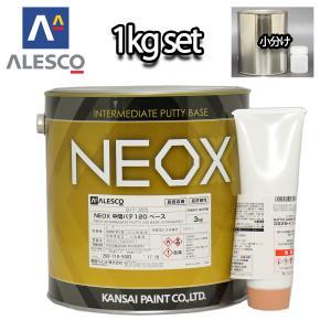 関西ペイント NEOX 中間パテ120 1kgセット/遅乾 膜厚10mm 板金/補修/ウレタン塗料 houtoku