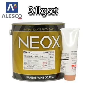 関西ペイント NEOX 中間パテ120 3.1kgセット/標準 膜厚10mm 板金/補修/ウレタン塗料 houtoku