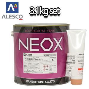 関西ペイント NEOX 鈑金パテ80  3.1kgセット/標準  厚盛20mm 板金/補修/ウレタン塗料 houtoku