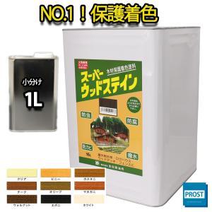 (商品内容) ●スーパーウッドステイン ウォルナット 1L  ※無地缶に詰め替えてのお届けとなります...