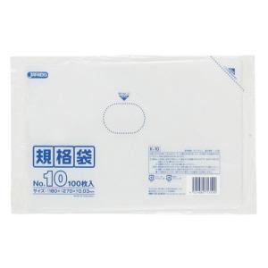 ジャパックス LD規格ポリ袋 0.03mm厚 No.10 K-10 180×270mm 1ケース6000枚入り|houzainokura