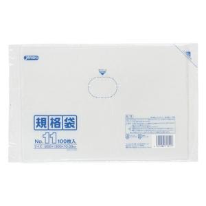 ジャパックス LD規格ポリ袋 0.03mm厚 No.11 K-11 200×300mm 1ケース6000枚入り|houzainokura