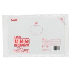 ジャパックス LD規格ポリ袋 0.02mm厚 No.10 KN10 180×270mm 1ケース12000枚入り|houzainokura