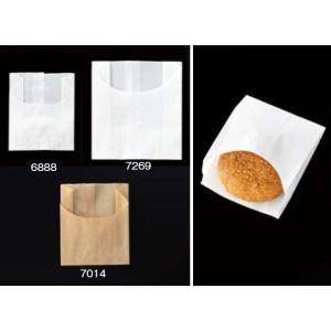 大阪ポリエチレン販売 6888 耐油紙袋 No140-0 麦包耐油小袋無地 90(マチ35)×(62+45)mm 1ケース2000枚入|houzainokura