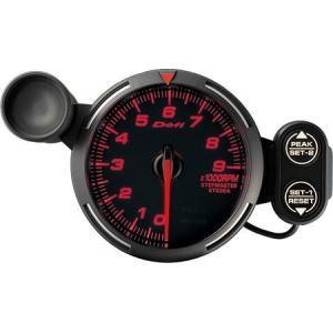 デフィ メーター レーサーゲージ (Racer Gauge) Φ80 レッド タコメーター 0RPM〜9000RPM DF12002 送料無料|howars